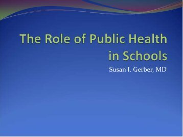 Susan I. Gerber, MD - Cook County Department of Public Health
