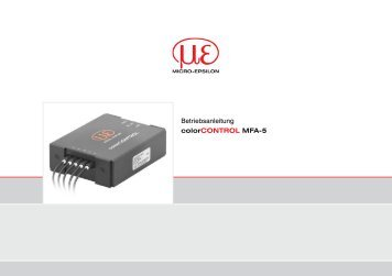 colorCONTROL MFA-5 - Micro-Epsilon Messtechnik GmbH & Co. KG