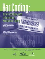 A continuing education program for pharmacists and nurses - Hospira