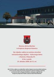 preberete v priloženi brošuri. - Mariborska knjižnica
