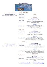 PRÉ-PROGRAMME JEUDI 7 JUIN 2007 - Historique de l'ICSN - CNRS