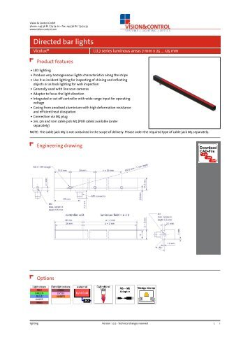 Datasheet - vicolux® LLL7 series 7 mm x 25 ... - Vision & Control