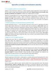 110520 - Zavod iskreni.net - izjava o druzinskem zakoniku