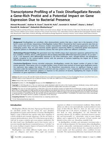 PDF file - Debashish Bhattacharya Laboratory - Rutgers, The State ...