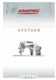 Maskiner og utstyr for systuer - Amatec