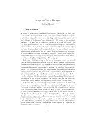Hungarian Vowel Harmony 0 Introduction - CiteSeerX
