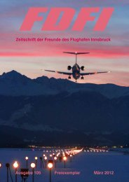 DIE TIROLER FLUGSCHULE www.fly-west.at let´s fly together. ...