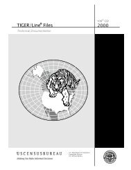 2000 TIGER/Line Files - Web word processing, presentations and ...