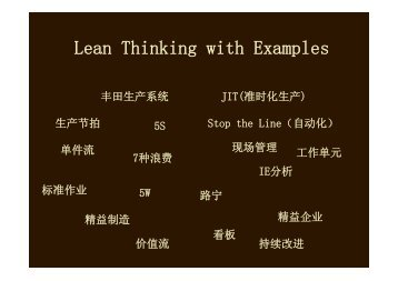 Lean Thinking with Examples