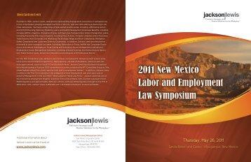 New Mexico Law Symp Brochure 2011.pdf - Jackson Lewis