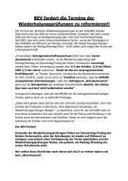 BEV fordert die Termine der Wiederholungsprüfungen zu ... - LVEV.at
