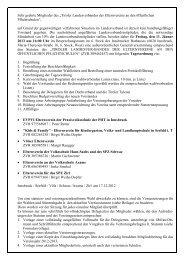 Einberufungsmail - Aktuelles - Tiroler Landesverband der ...