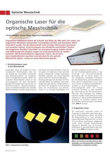 Organische Laser für die optische Messtechnik - cynora
