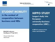 Student Mobility as part of University-Business ... - Eracon.info