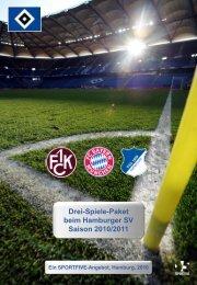 """3-Spiele Paket """"Saisonstart"""" - HSV"""