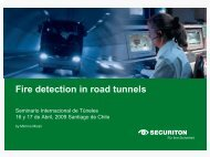 Fire detection in road tunnels - ITS Chile