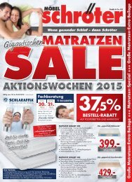 moebel Schroeter KW08 Einleger Matratzen Sale