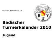 Badischer Turnierkalender 2010 - Heidelberger Tennisclub 1890 eV