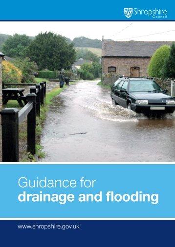 Drainage and Flooding leaflet - Shrop.NET