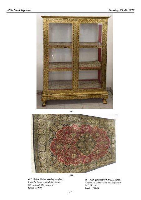 38. Auktion Auktionsvorschau