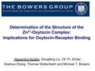 Implications for Oxytocin-Receptor Binding - The Bowers Group