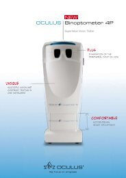 OCULUS Binoptometer 4P NEW - Optotechnik.com.ve