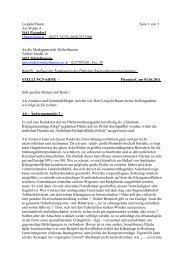 Stellungnahme von Leopold Baum - Dr.Dr. Josef Baum