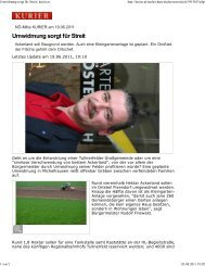 Bericht Kurier - Dr.Dr. Josef Baum