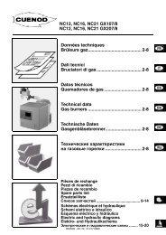 Техническая информация NC12, NC16, NC21 GX107/8, GX207/8