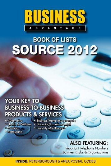 Business Advantage Source 2012 - Admax Marketing