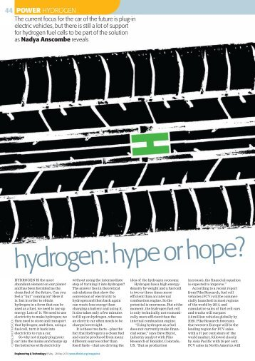 hydrogen: hype or hope? - Nadya Anscombe