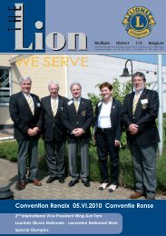 D - Lions Clubs International - MD 112 Belgium