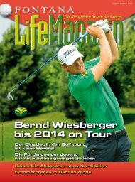 Ausgabe 01/2012 - Golfclub Fontana
