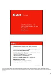 """E.ON-Project """"50plus"""" – The Future of High Efficient Coal Fired ..."""