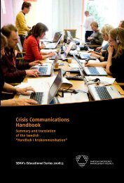 What are crisis communications?