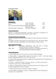 Christopher Winch Qualifications: B.A. Philosophy Leeds University ...