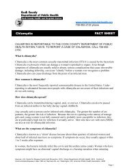Chlamydia FACT SHEET - Cook County Department of Public Health