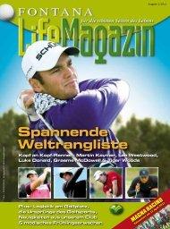 Ausgabe 01/2011 - Golfclub Fontana