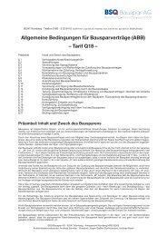 Tarif Q18 - BSQ Bauspar AG
