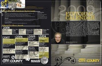 editorial calendar ditorial - American City & County Magazine