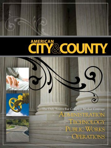 operations technology public works administration - American City ...
