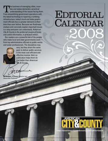 EDITORIAL CALENDAR - American City & County Magazine