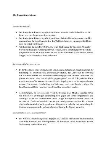 alten Positionen unseres Vorgängerkonvents - Stuve Uni Erlangen ...