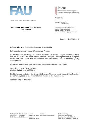 StUB - Stuve Uni Erlangen-Nürnberg - Friedrich-Alexander ...