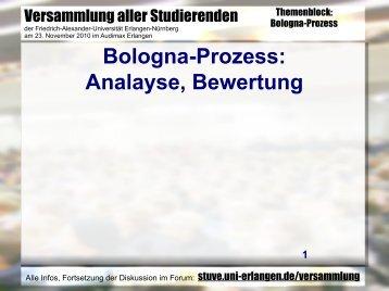 Bologna-Prozess - Stuve Uni Erlangen-Nürnberg - Friedrich ...