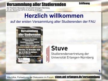 TOP 1 - Stuve Uni Erlangen-Nürnberg - Friedrich-Alexander ...