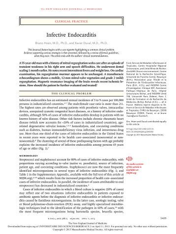 Case study infective endocarditis