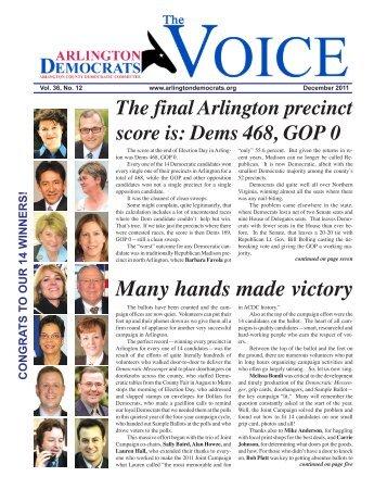 Many hands made victory - Arlington County Democratic Party