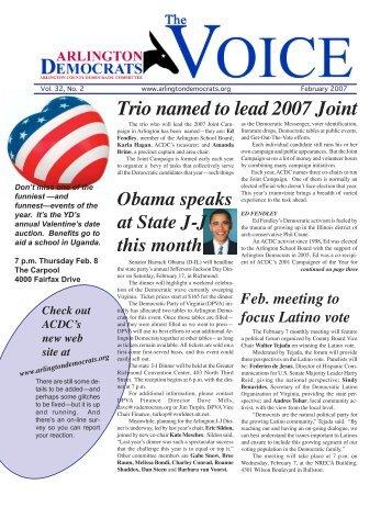 Dem newsletter - Arlington County Democratic Party
