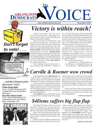 November - Arlington County Democratic Party